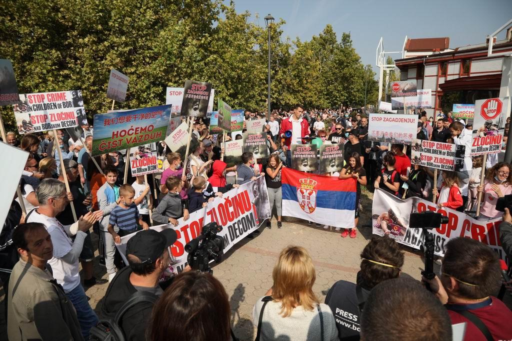 protest bor zagadjenje foto Dragan Novakovic