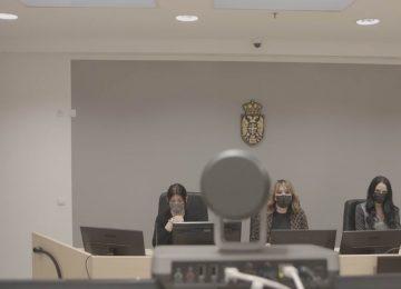 Sudije u sudnici Visi sud u Beogradu